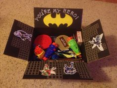 Super Hero Care Package- You're OUR Hero! Would be so cute to send an Uncle…