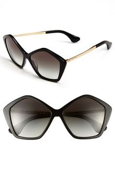 Miu Miu 'Culte Collection' Geometric Sunglasses available at #Nordstrom