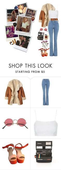 """""""This is Penny Lane, man. Show some respect"""" by honeypiestyles ❤ liked on Polyvore featuring Toast, Almost Famous, Topshop, Oui, Polaroid, music, movie, 70s, almostfamous and pennylane"""