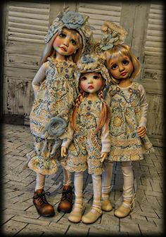 Tracy Promber BJD Bjd Dolls, Handmade Clothes, Beautiful Dolls, Fur Coat, Hipster, Artwork, Jackets, Outfits, Children