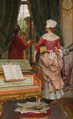 L'ATTESA by Arturo Ricci (Italian, 1854-1919) (detail)