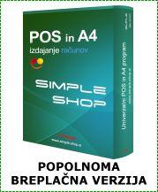 Simple Shop - .: Poslovna programska oprema za izdajanje računov :.