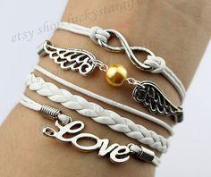 Yellow pearl wings infinite infinite love by luckystargift on Etsy, $4.89