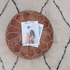 New arrivals, handmade Moroccan tan leather pouffe Colour Pop, White Houses, House Colors, Tan Leather, Moroccan, Bohemian, Handmade, White Homes, Color Pop