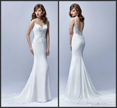White Bridal Gowns Cheap Price Appliques Elegant Deep V Neck Backless Sexy Wedding Dress Sleeveless Sweep Train Custom Made Formal Gowns Wedding Dresses From Black Sheath Dress For Wedding From Lovemydress, $130.66| Dhgate.Com