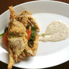 Fried soft-shelled crabs... yum! :: Outer Banks of North Carolina :: #iloveobx