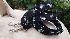 Taschenhalter - Taschengurt mit Totenköpfen Reserviert für Simmi78 - ein Designerstück von stitchbully bei DaWanda