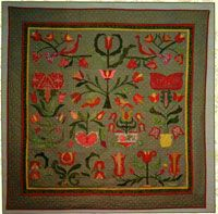 """Love Notes Quilt Pattern by Linen Closet Designs at KayeWood.com. 60"""" x 60"""" Make this romantic quilt your next project. Perfect for Valentine's Day or anytime of the year. Reminiscent of Pennsylvania Dutch Folk Art, these stylized blocks are sure to warm your heart. Templates are full size. http://www.kayewood.com/item/Love_Notes_Quilt_Pattern/3832 $16.00"""