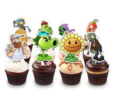 Plants Vs Zombies pack, Plants Vs Zombies Printable Cupcake Topper, Plants Vs Zombies Cake Topper,Plants Vs Zombies Birthday Party   PL_FULL
