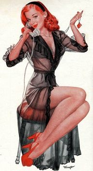 From an old ad for Mennen shaving cream -Norman Mingo Vintage Pin Up Girl Illustration Pin Ups Vintage, Retro Pin Up, Vintage Pins, Uñas Pin Up, Pin Up Art, Pin Up Girls, Rockabilly, Le Burlesque, Mode Pin Up