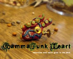 Schnik: Sculptures of anatomy and whimsy from my fingers to your world by Laura Torbet. Heart Anatomy, Steampunk Heart, Freak Flag, Handmade Ornaments, Geek Girls, Polymer Clay, Sculptures, Objects, Geek Stuff