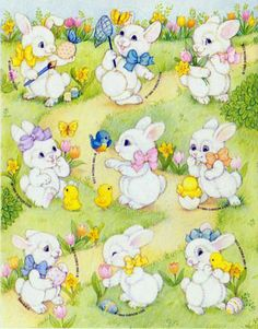 Gibson Easter stickers - playful bunnies