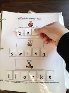 matching letters for beginning spellers.