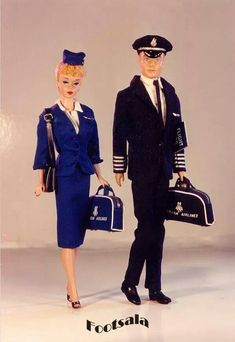 """""""American Airlines"""" Barbie & Ken from the collection of Gene Foote."""