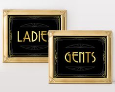 Printable wedding sign Ladies and Gents Great by GoldMoonParty