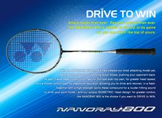 YONEX NANORAY 800 new arrival, come and get the new racket from Badminton Shop Online. Badminton Shop, Badminton Racket, Tennis Racket, Rackets, Sports, Hs Sports, Sport