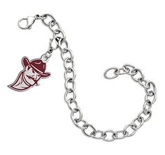 New Mexico State Aggies Sterling Silver Color Logo Charm Bracelet ** Check out this great product.