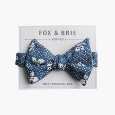 AzureFloral Bowtie from Fox & Brie