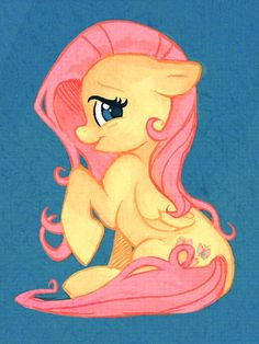 Fluttershy. I don't even watch my little pony but I'm becoming increasingly obsessed with fan-art     Of them