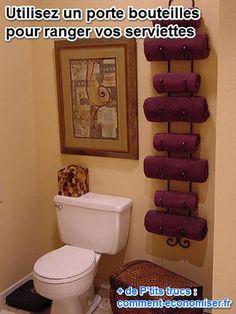 Qui dit petit appartement dit petite salle de bains.Les serviettes vous encombrent et vous ne savez plus où les stocker?Fini le désordre, heureusement, voici une astuce originale.Il suff