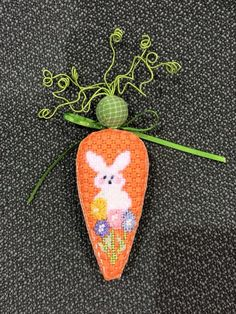 Bunny carrot by Kathy Schenkel Designs, the finishing is adorable.