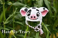 Check out this item in my Etsy shop https://www.etsy.com/listing/542185018/pua-the-pig-moana-crochet-hat-hei-hei