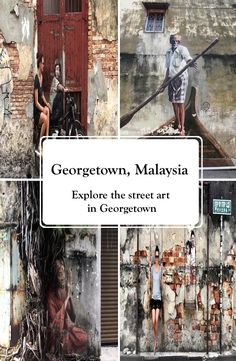Georgetown is the capital city of the Malaysian state Penang. It is located at the tip of Penang Island and famous for the Georgetown street art. Georgetown Malaysia, Street Art, Explore, Places, Exploring, Lugares
