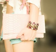 blush colored clutch. #tipilly