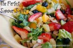 perfect summer salad This is delicious.  Just like the one at Paradise Bakery  @yourhomebasedmom.com  #salads,#recipes