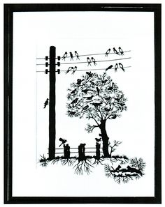 like the birds Art And Illustration, Paper Cutting, Paper Lace, Silhouette Art, Wood Burning, Silhouettes, Art Decor, Paper Crafts, Classroom