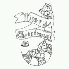 Black Vector Mono Color Illustration For Merry Christmas And Happy