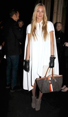 gloves & cape. chic.