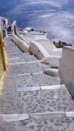 Caldera steps, Oia, Santorini, Greece