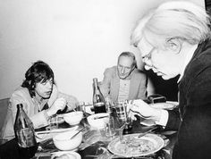 Awesome People Hanging Out Together [pictured: Mick Jagger, William S. Burroughs and Andy Warhol, 1980]