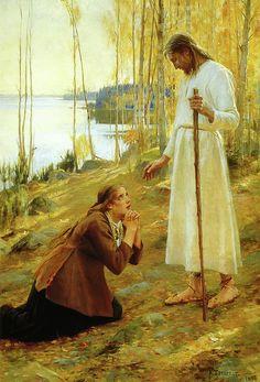 Albert Edelfelt: Christ and Mary Magdalene, 1890