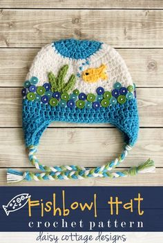 Free Beanie Crochet Pattern by Daisy Cottage Designs by Daisy Cottage Designs,.