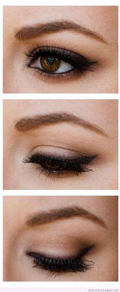 Suttle smokey eye make-up inspiration