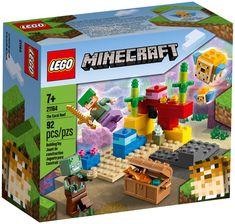 Minecraft, le jeu en ligne très apprécié des enfants, prend vie dans le monde réel avec le set LEGO Minecraft Le récif corallien (21164). Avec ses briques LEGO reconfigurables à l'infini, le plaisir de la construction ne connaît aucune fin. L'action authentique de Minecraft dans des aventures sous-marines. Les enfants rejoignent Axel, la célèbre casse-cou de Minecraft, et plongent avec elle dans l'océan Minecraft pour chercher un trésor caché au milieu d'un récif corallien coloré. Lego Minecraft, Lego Lego, Lego Ninjago, Panda Kindergarten, Legos, Bloc Lego, Online Games For Kids, Lego Mindstorms, Lego Pieces