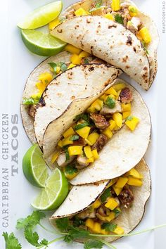 Caribbean Chicken Tacos from Real Food by Dad