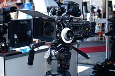 Sony Cine Alta PMW-F5 w/ Zeiss CP.2, AXS-R5 4K Raw recorder, and Arri shoulder system.