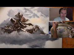 Clives Mountain Gets Cloudy - Clive & Jason Collaboration Jason Bowen, Art Courses, Bob Ross, Pastel, Collaboration, Mountain, Facebook, Larry, Hamilton