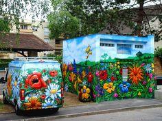free style graffiti flower street art flowers.. 2010 mery by nowart, via Flickr
