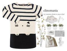 """[topset] clinomania,"" by renyic ❤ liked on Polyvore featuring rag & bone, Emile et Ida, Abigail Ahern, CASSETTE, CÉLINE, Pier 1 Imports, white, black and felinefashion"