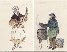 A GROUP OF FOUR COSTUME DESIGNS FOR 'LA BOHEME' sold by Sotheby's, London, on Wednesday, May 22, 2002