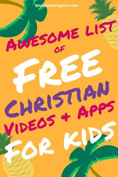 Awesome List of FREE Christian Videos & Apps for Kids - Brooke Grangard Christian Apps, Christian Videos, Christian Movies, Christian Families, Christian Women, Bible Activities, Activities For Kids, Crafts For Kids, Bible Games