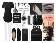 """""""You're Weird. I Like It"""" by aaliyahsalmon ❤ liked on Polyvore featuring Beats by Dr. Dre, Aéropostale, Muse, xO Design, Topshop, Finn and Rolex"""