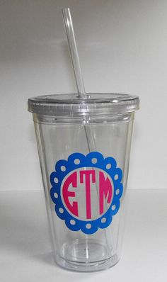 SUPER CUTE...SUPER NEW! 16oz Personalized tumbler! All the craze these days! Click on the pic for more info!!!!  $12.00