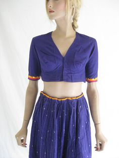 Vintage Tribal/ Ethnic Embroidered Boho Skirt by TimeBombVintage