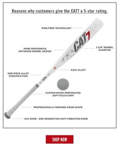 Here's just a few of the reasons why customers love the Marucci CAT 7! Click the image to shop today with free shipping and 24/7 customer service. Don't forget, we're here for you from click to hit! Baseball Bats, Softball Bats, Customer Service, Don't Forget, Barrel, Cat, Free Shipping, Shop, Image
