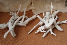 Wedding centerpieces driftwood.. βάση από θαλασσοξυλα (με ποτηρακι για κερι) για στολισμό και αρίθμηση τραπεζίων δεξίωσης γάμων..25χ45cm.. Icing, Desserts, Food, Tailgate Desserts, Deserts, Essen, Postres, Meals, Dessert